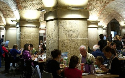 The Cafe in the Crypt restaurant at St.Martin's Church, Trafalgar Square, London, UK.