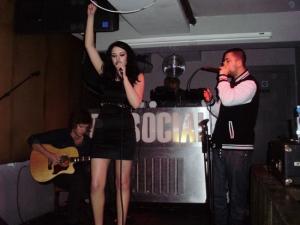 Singer at the Social