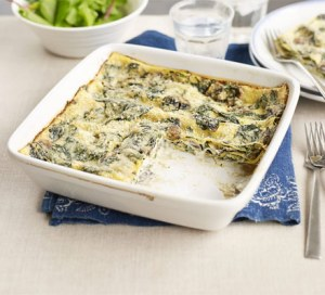 Musrhoom and Spinach lasagne