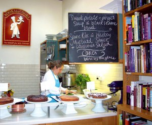 Menu of the day and cakes