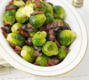 Sprouts, chestnuts, bacon; photo courtesy of BBC Good Food