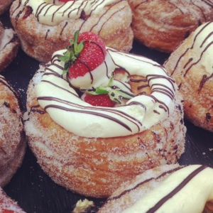 Strawberries & Cream Donuts